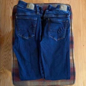 2 pairs AMERICAN EAGLE HI RISE JEGGING JEANS